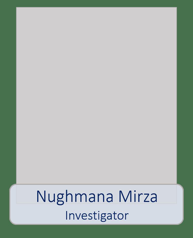 Nughmana Mirza Investigator